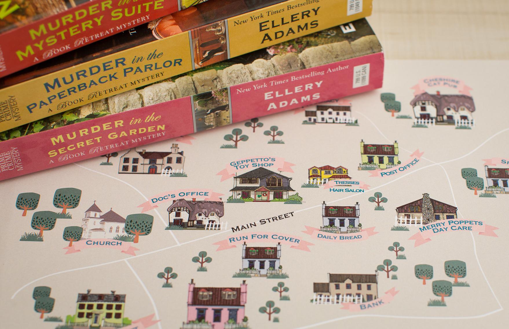 CW Designs Publication Map Ellery Adams