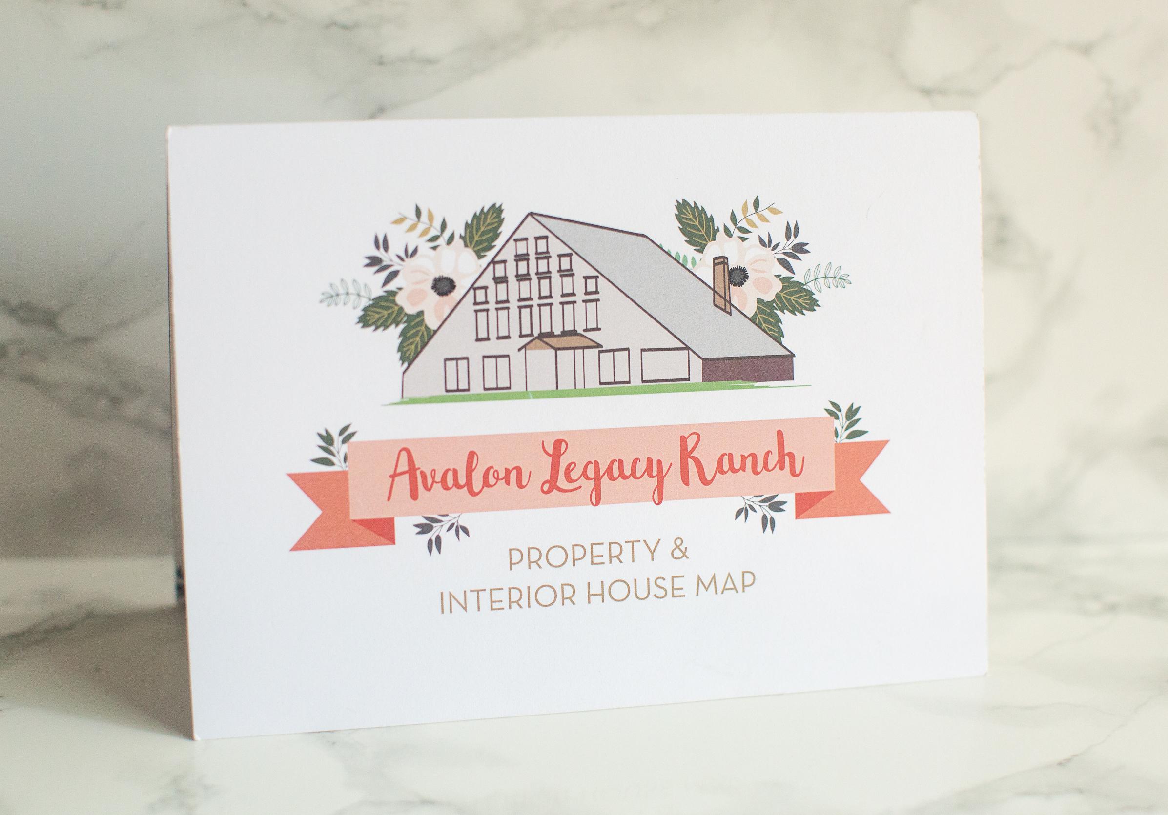 """Property Map for Avalon Legacy Ranch, a Wedding Venue.  • Flat Fold Size: 5""""x7"""", Tri-Fold Unfold Size: 7""""x15"""""""