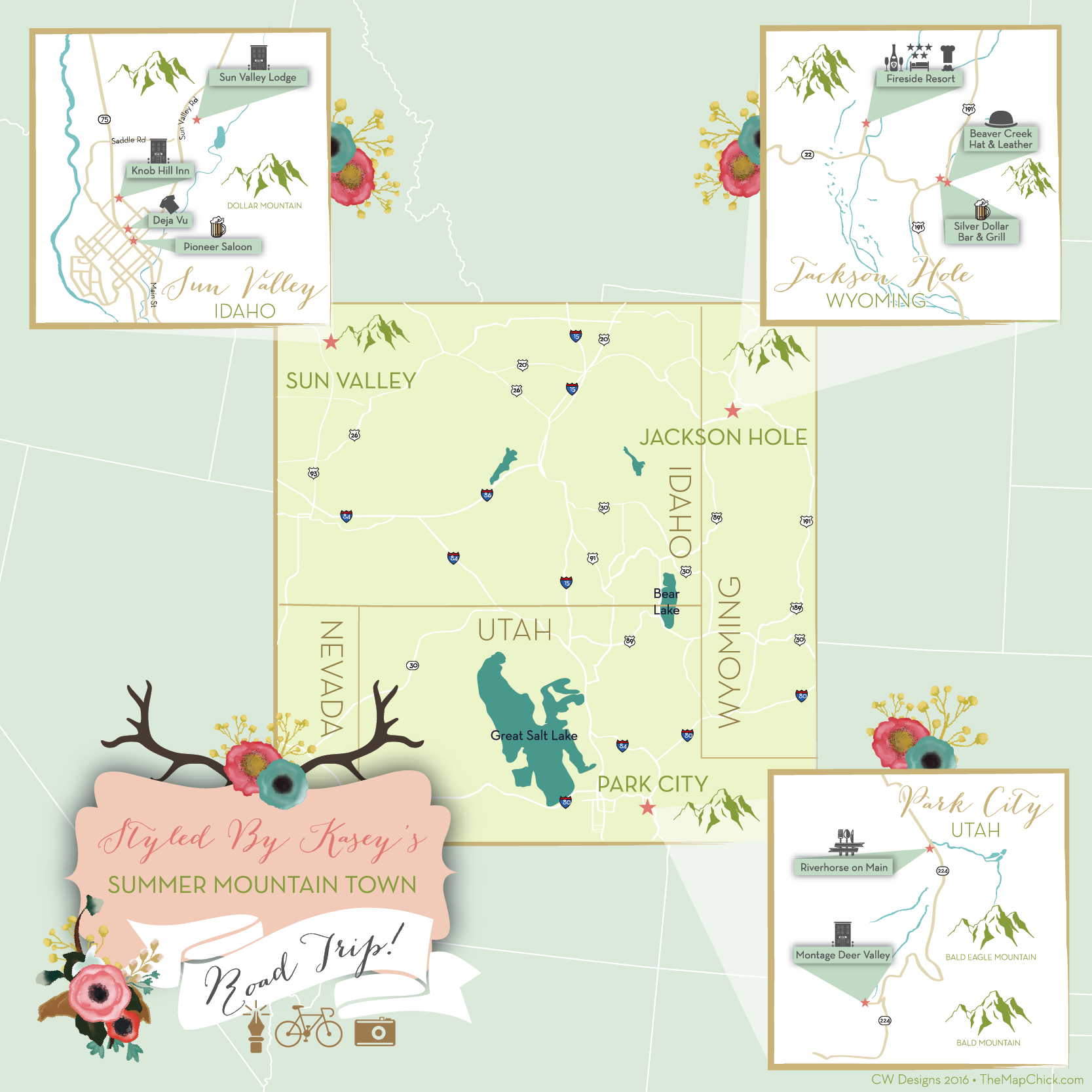 Styled by Kaset Park City Utah Map The Map Chick