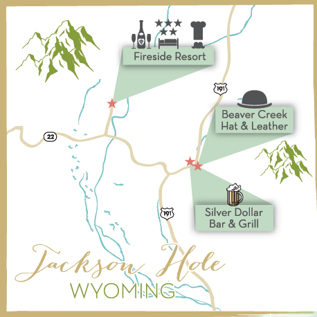 Styled by Kaset Jackson Hole Whyoming Map The Map Chick