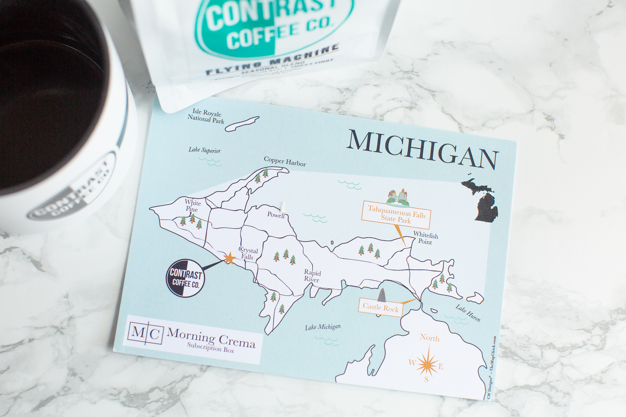 Michigan Map The Map Chick Morning Crema