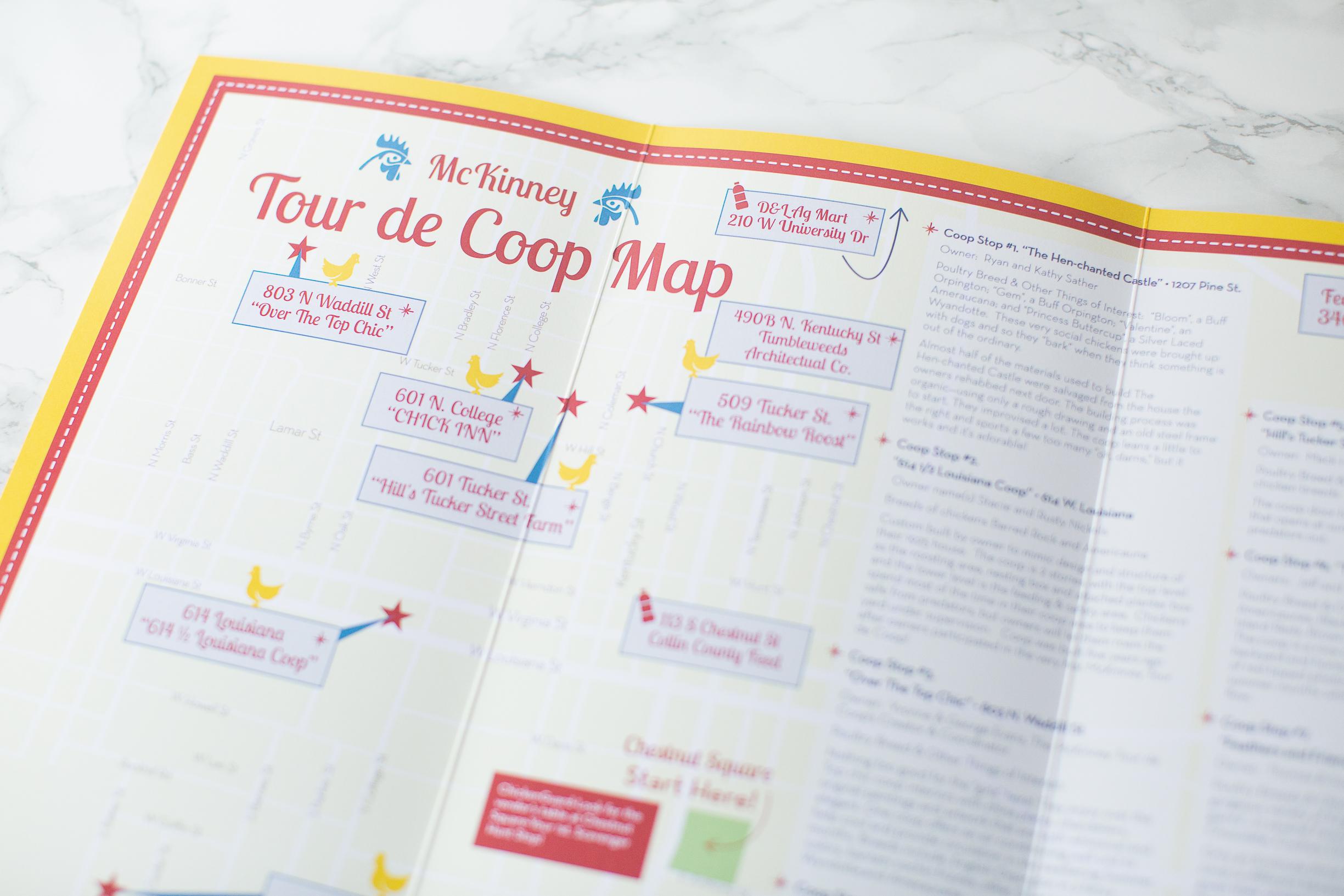 McKinney, Texas Tour de Coop Map The Map Chick