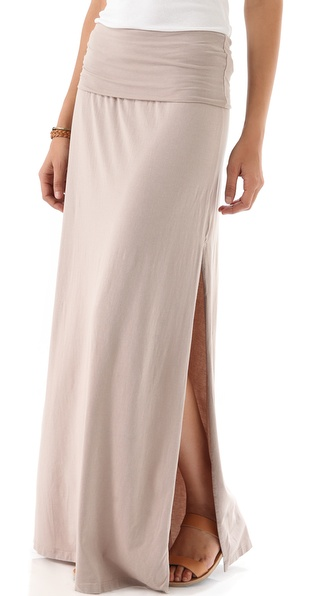 i like this blush maxi, here , with these cute wedge sandals,  here