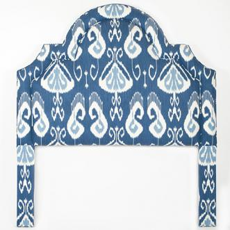 Blue ikat regency headboard from  Biscuit