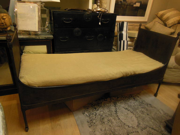 19th C French Iron Day Bed