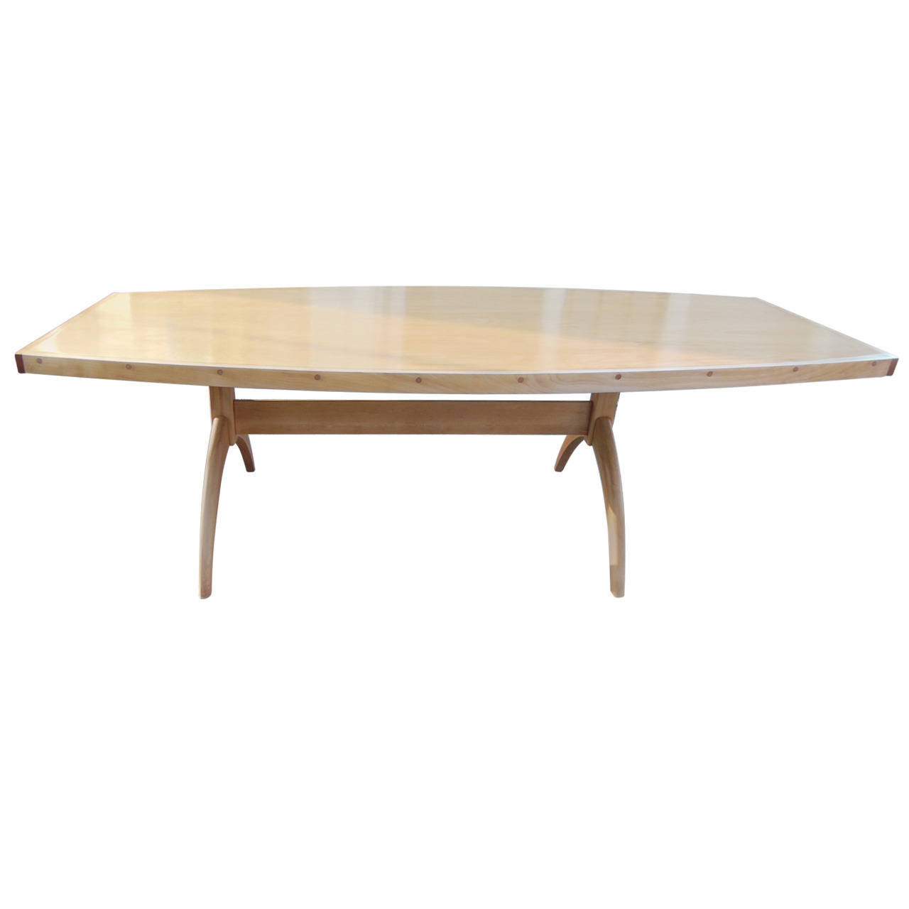 Squared Oval Vintage Dining Table