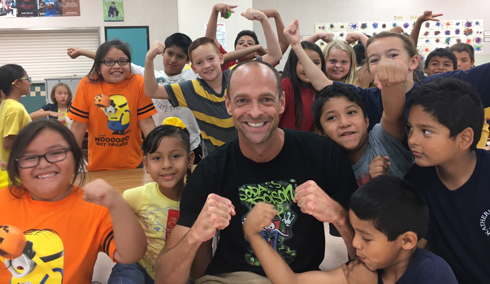 Operation: #DEFEATSODATRON working with children in the after school program, ASES, in Cathedral City, California.