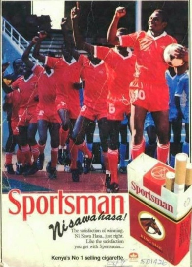 British American Tobacco advertisement in Kenya