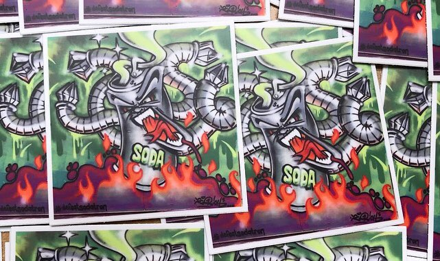 DEFEAT SODATRON stickers