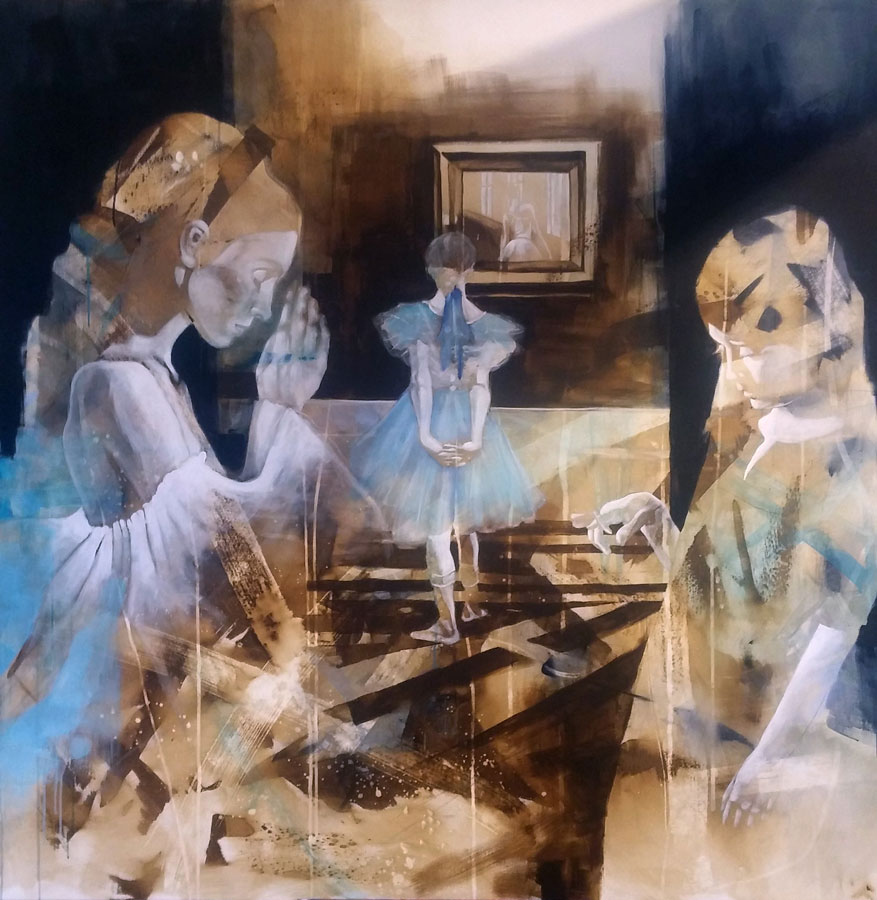 The colors of home 150x150cm