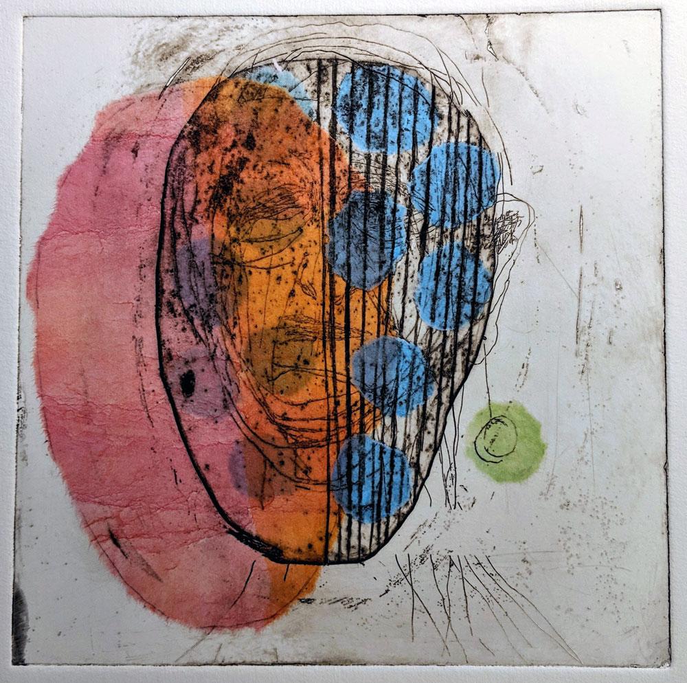 Hodeskalle-blå-prikker-etsning-chine-collé-Anne-Britt-Kristiansen.jpg