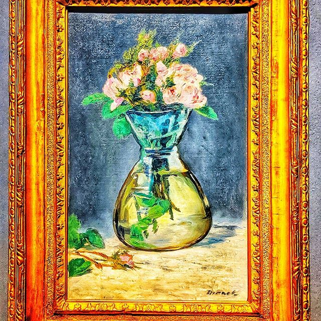 ✨ #manet 🌞 👑#artforlife  #travelawesome 🌸 Mose Roses in a Vase. 1882