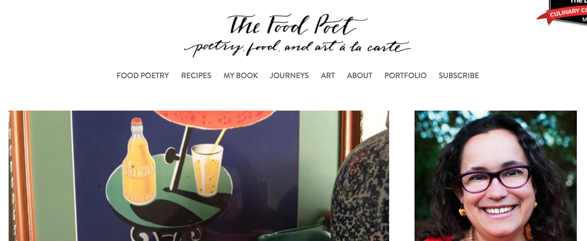 The Food Poet Blog Logo Design | 2015