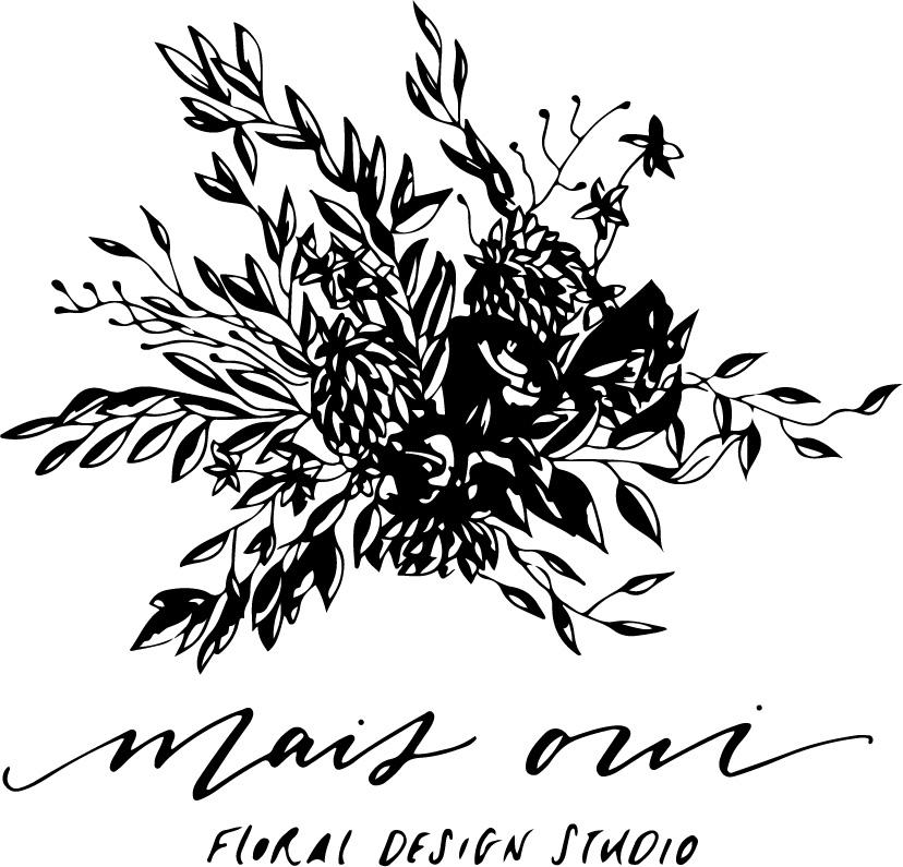 Mais Oui Floral Design Logo Design | 2015