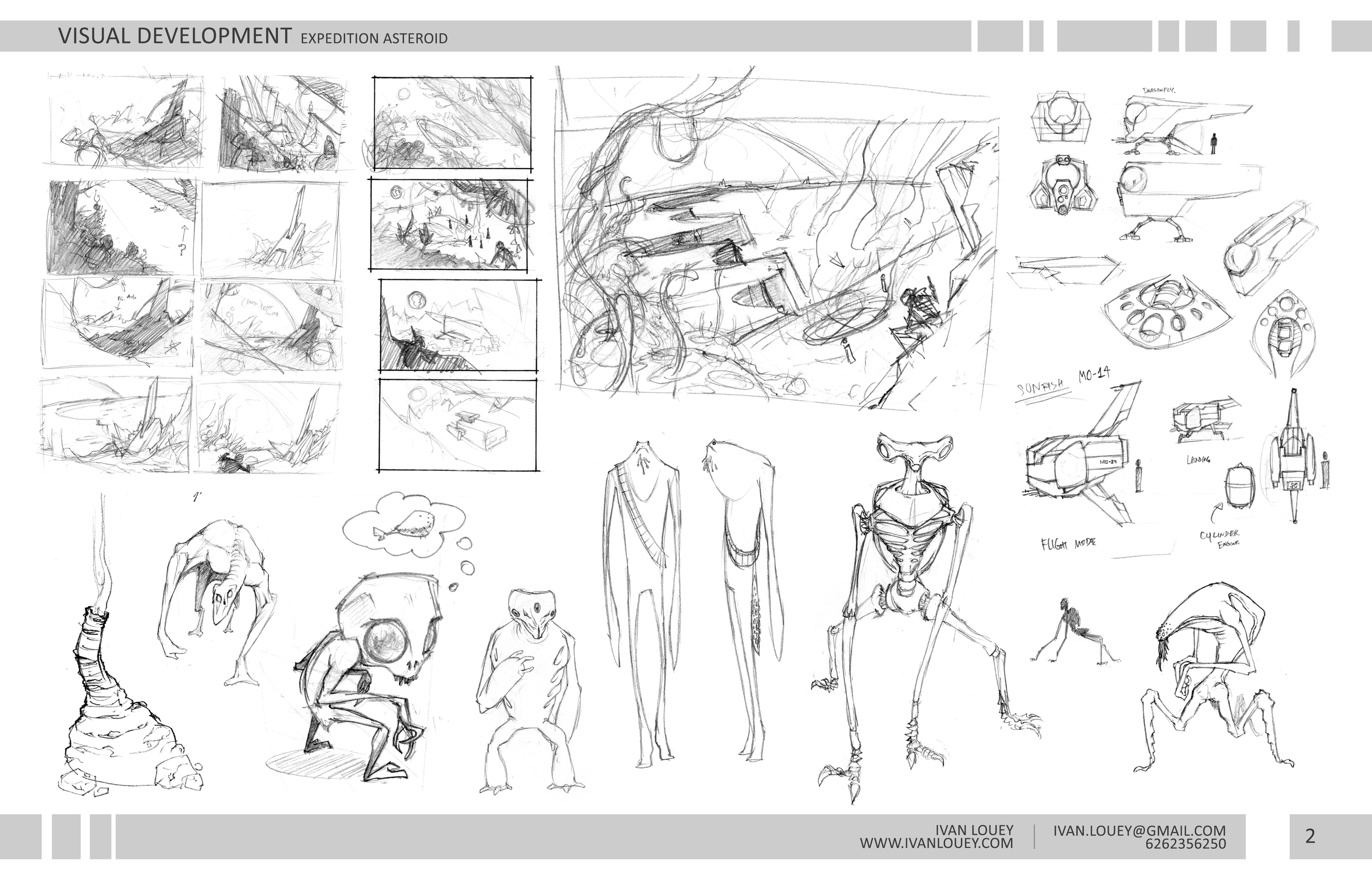 A selection of the thumbs and doodles
