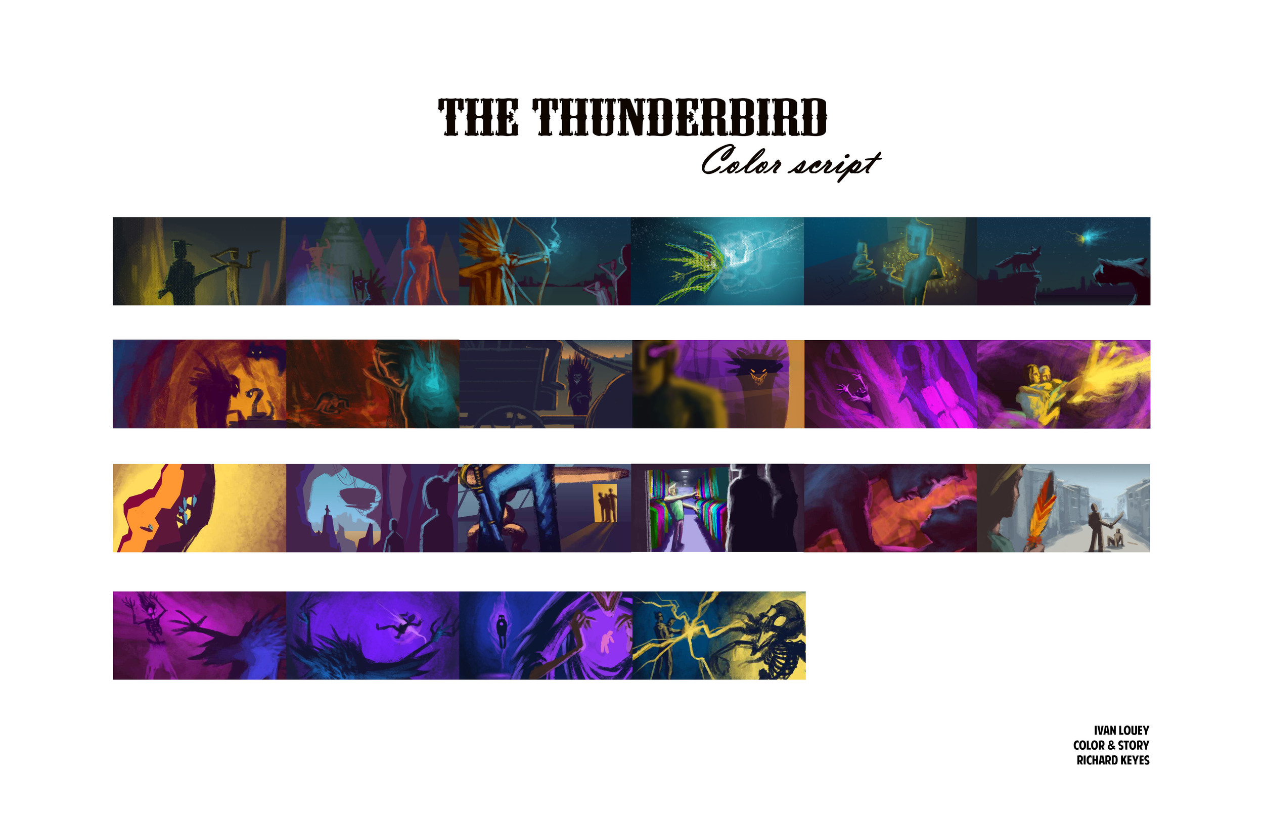 Colorscript for The Thunderbird