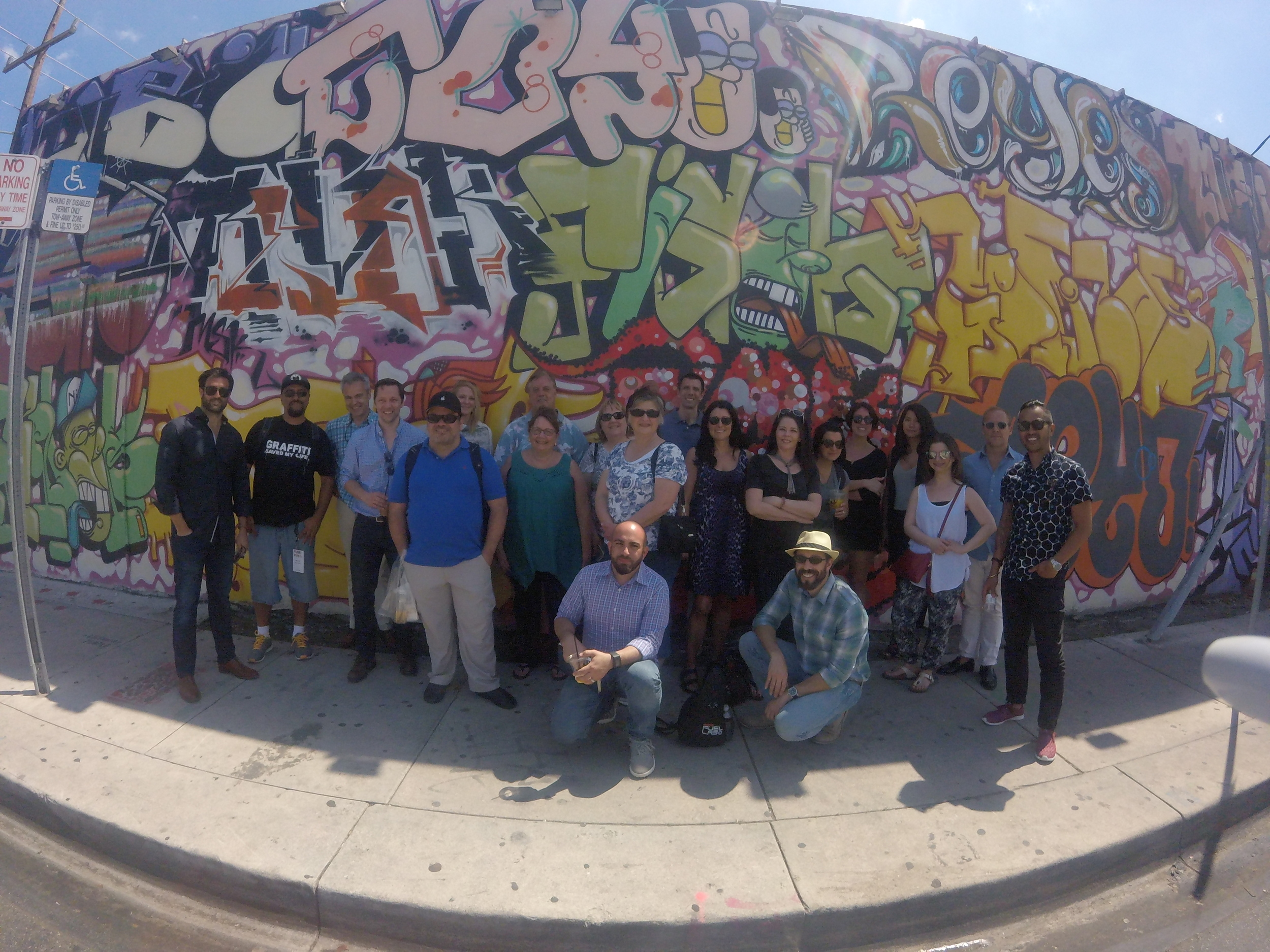 FUSE 2016 Wynwood Mural Tour participants led by me and Mikel Cirkus.