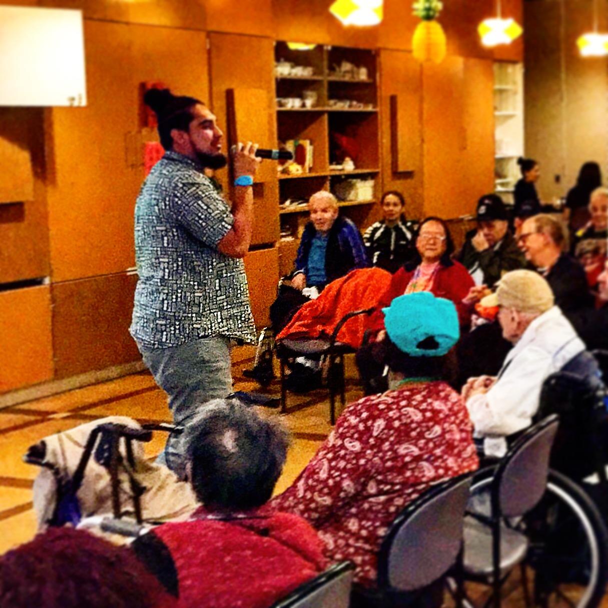Spoken word artist Brandon Santiago