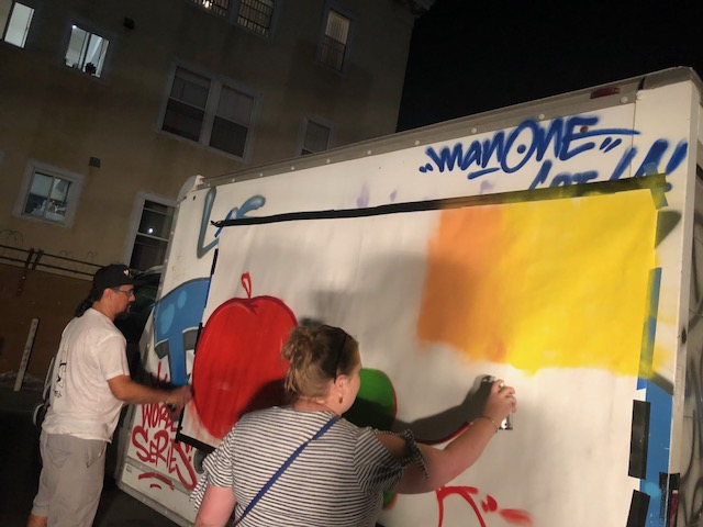 """KROGER - """"FRESH""""MOBILE TRUCKGRAFFITI PAINTING X COLLABORATIVE CANVASFOR DISPLAY AT CORPORATE OFFICES"""