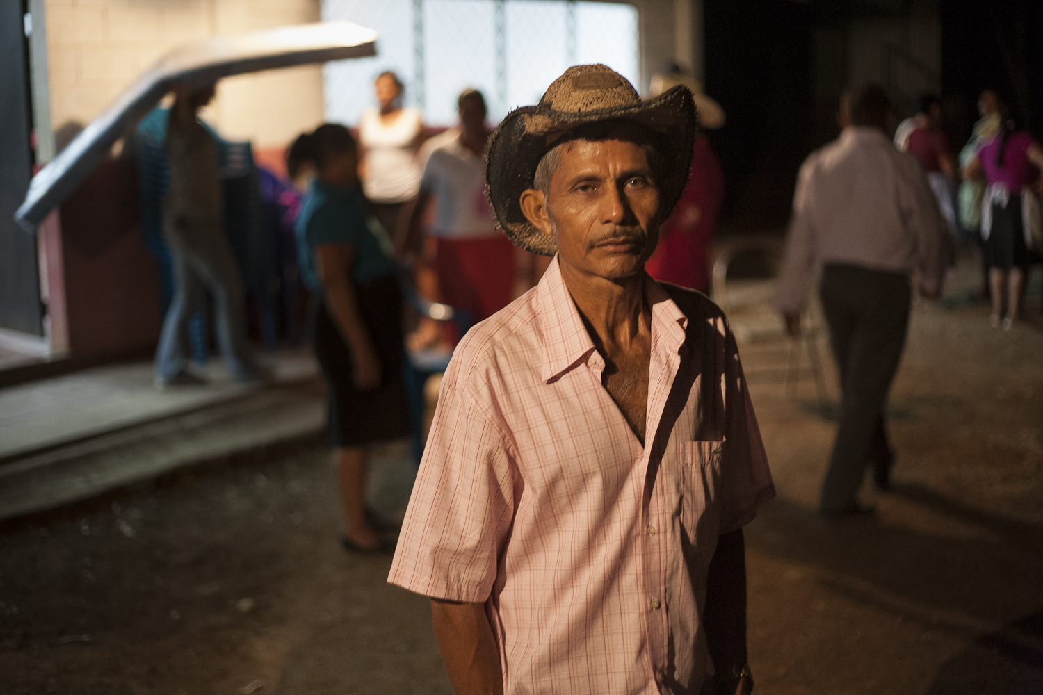 """Vicente Alvarado has been the head of the community organization for the  last 2 years, and give lectures about the history of the civil war  to children of the town. Alvarado, who grew up in Amatitán, calls Óscar  Romero, one of the martyrs of the rebellion cause, """"Jesus Christ on earth."""""""
