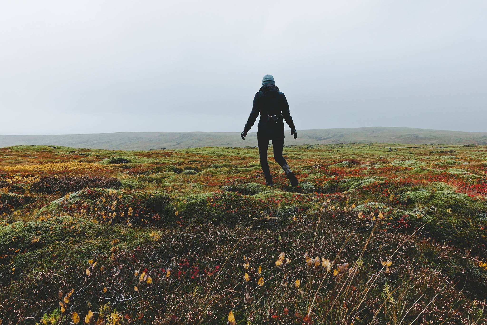 Just traipsing around Iceland.