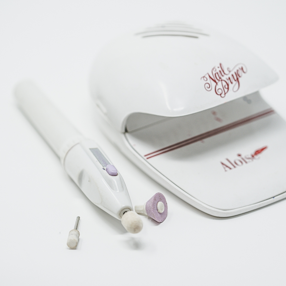 Nail Salon Shaper + Nail Dryer - I got this literally off TV, so I've included a link to an Amazon version.Link to Nail Dryer