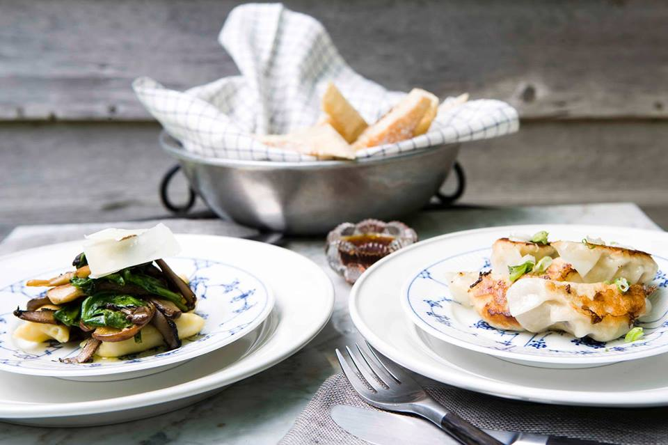 restaurant  dishes from the inn