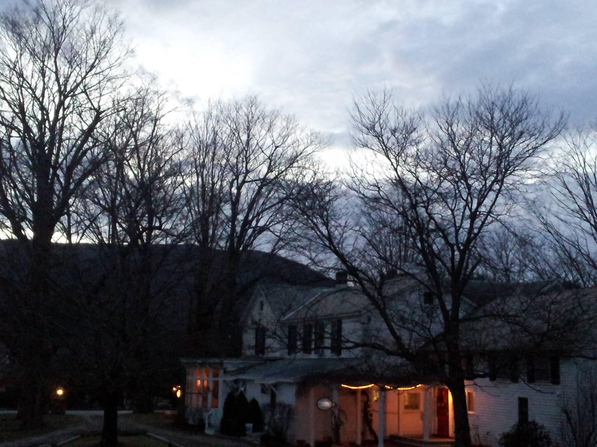 A November night at Dorset's Inn at West View Farm.