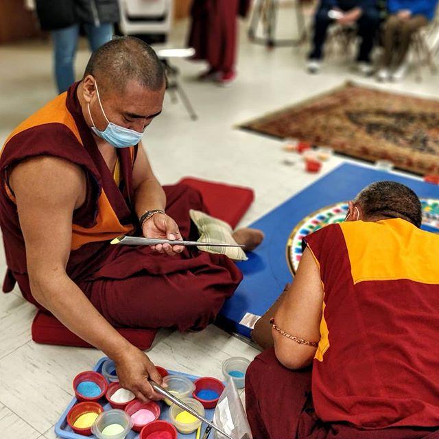 Beautiful impermanence. #buddhism #mandala #vt #vermont