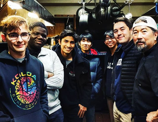 Fun night having some Battell monastery freshmen, including my son, dine at our Inn. Fine group of gentlemen! #middmoment #middleburycollege