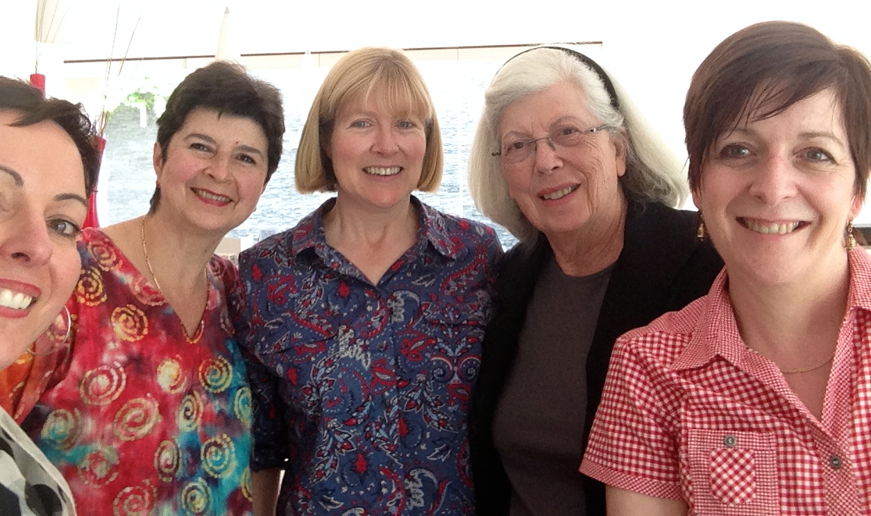 SCBWI Victorian Committee (left to right): Betty Sargeant, Marjorie Gardner; Carolyn Goodwin (fearless leader), Diana Lawrenson and Chris Bell