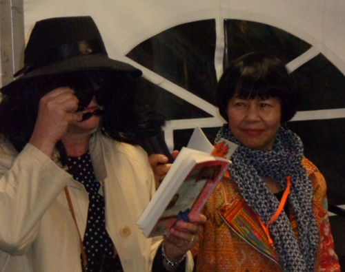 Launching  Pearlie the Spy  (Penguin)   by Gabrielle Wang. With the story's villain (aka Frane Lessac)