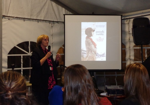 Publisher, Lisa Berryman launched Pamela Rushby's new book,  The Ratcatcher's Daughter.