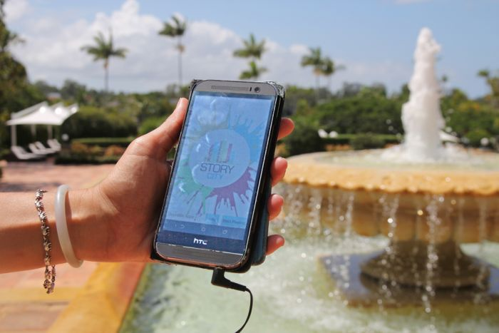 Story City new app - photos courtesy Damien Larkins ABC Radio Gold Coast