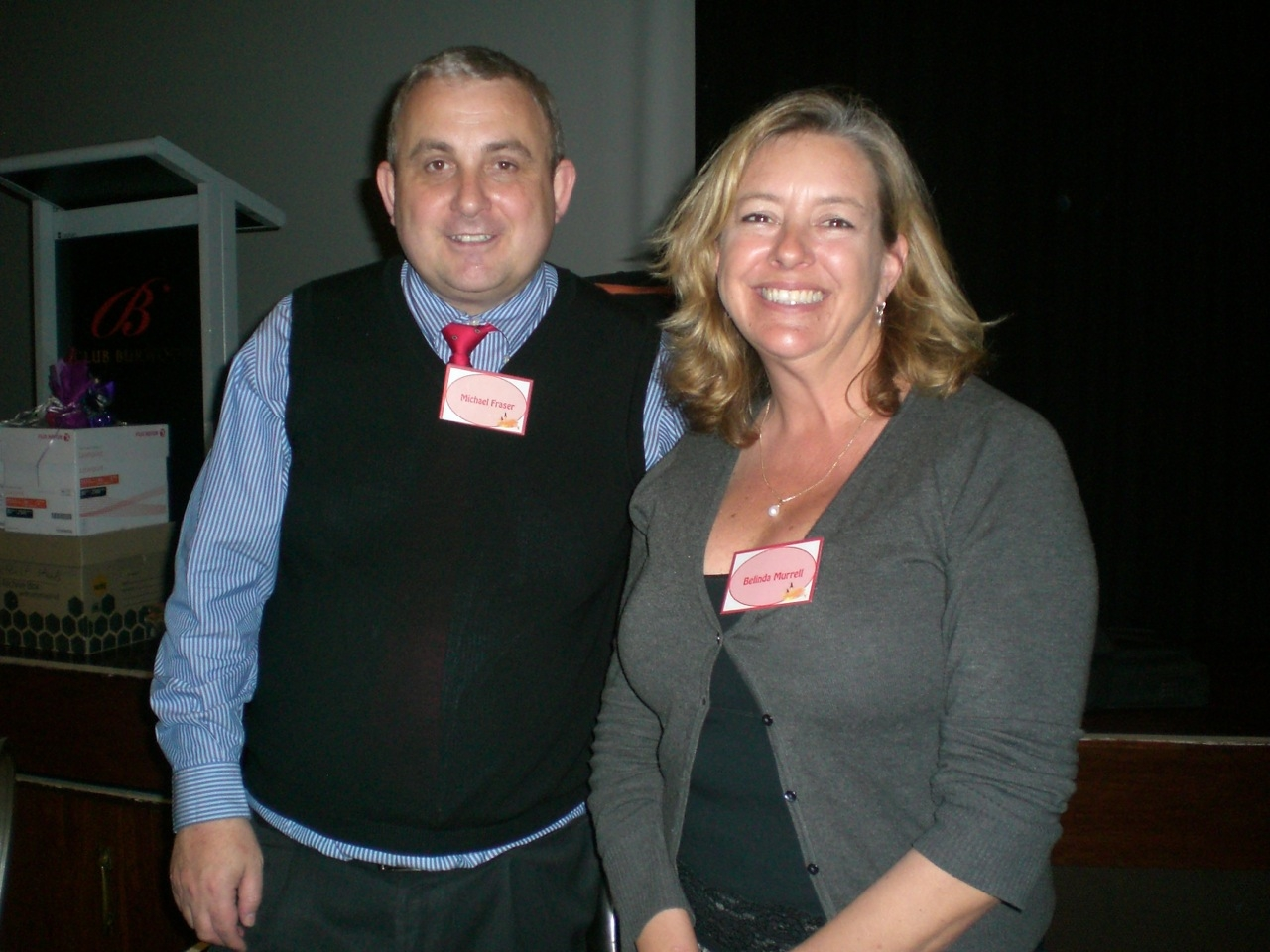 Belinda Murrell with librarian Michael Fraser at Bookfeast
