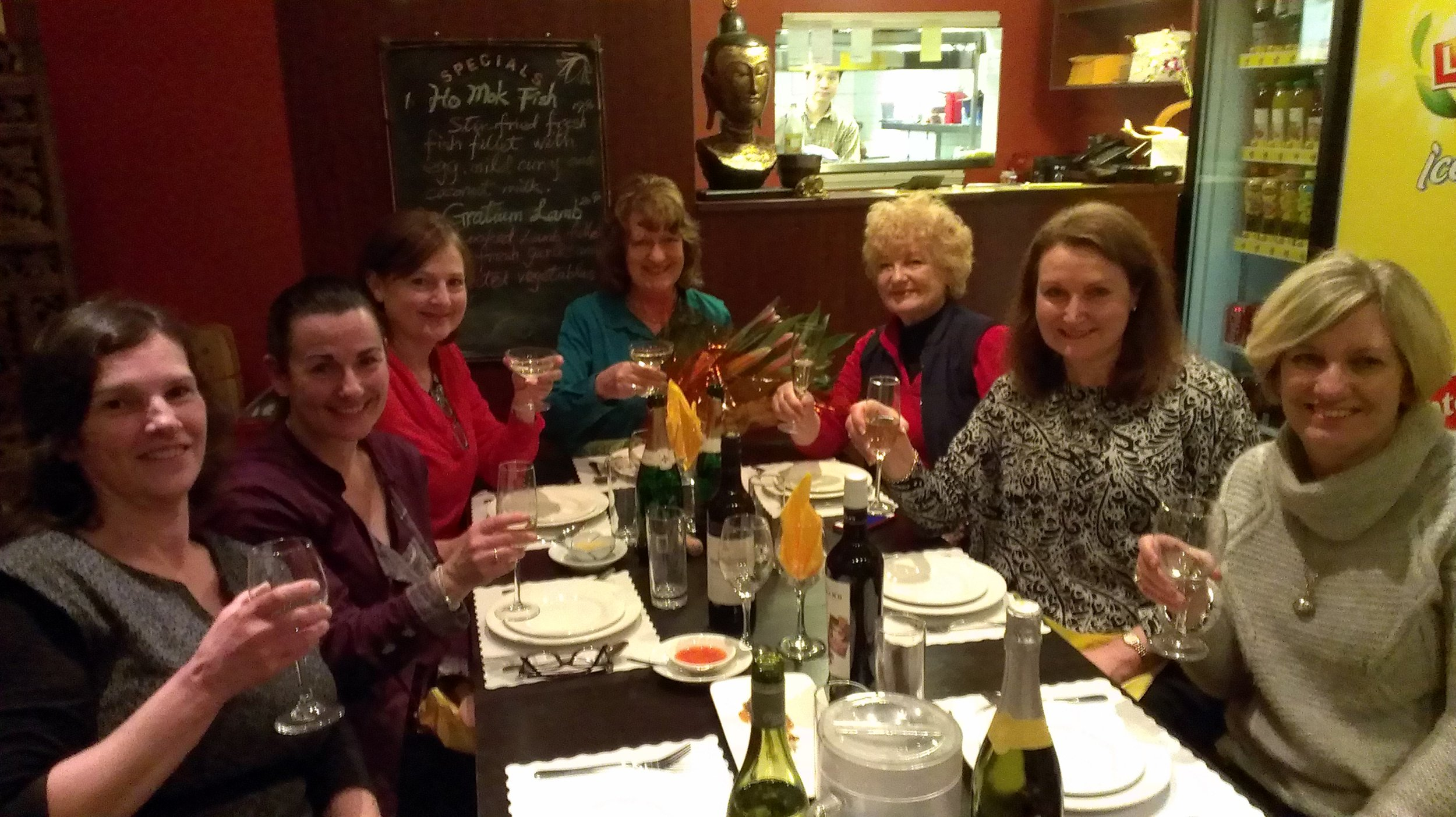Some of my wonderful teacher librarians colleagues from Broken Bay Diocese.(L to R) Michelle Thomson, Jo Neilson, Maryann Jackson, Judy Weinand (retired), Margaret Roc (retired), Sandra Todd and Louise Murphy