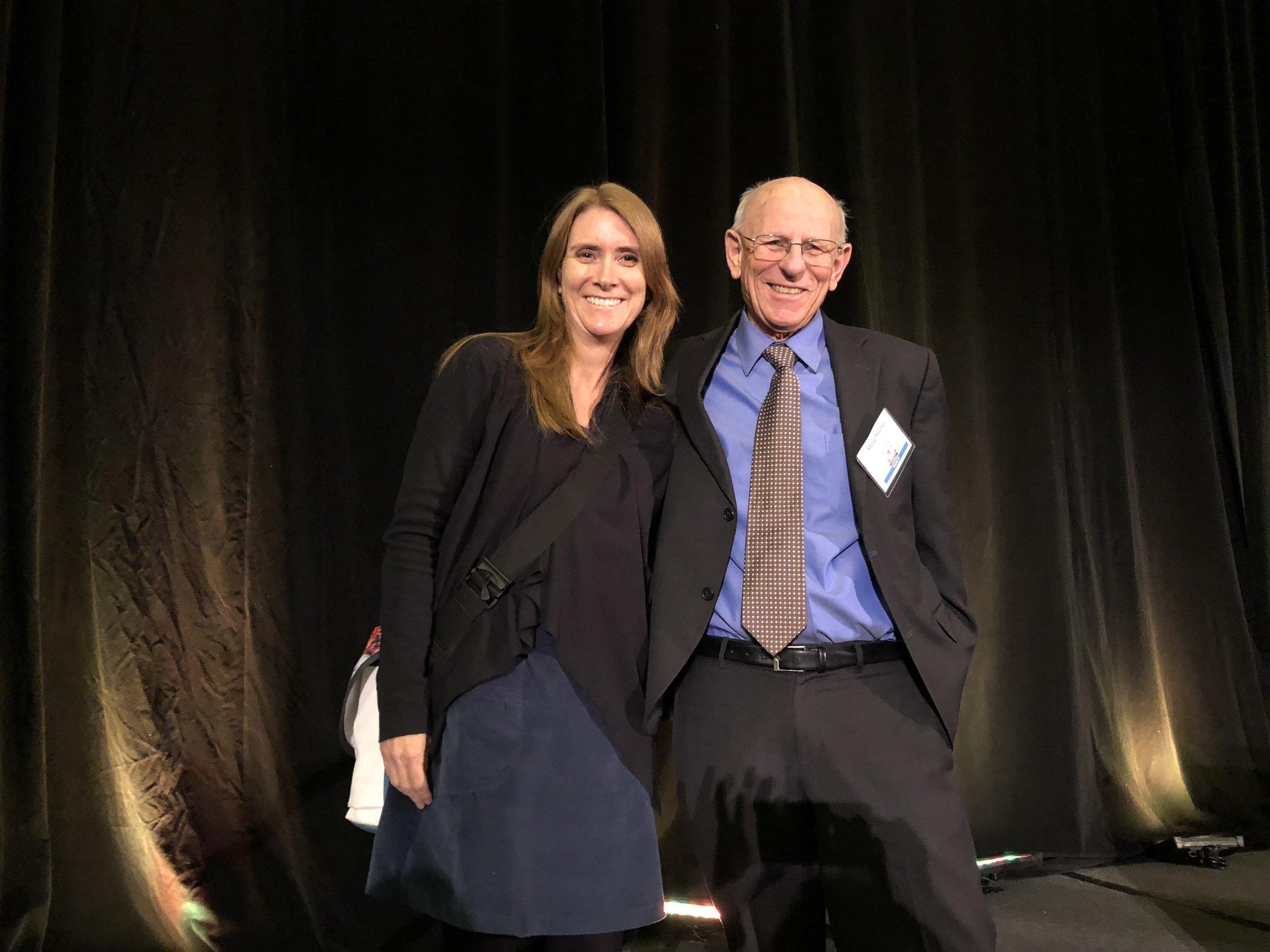 Nicole with SCBWI President Stephen Mooser
