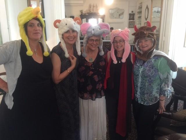 SCBWI hats Margaret, Marjorie, Deb abela, sarah davis, susanne  2016.JPG