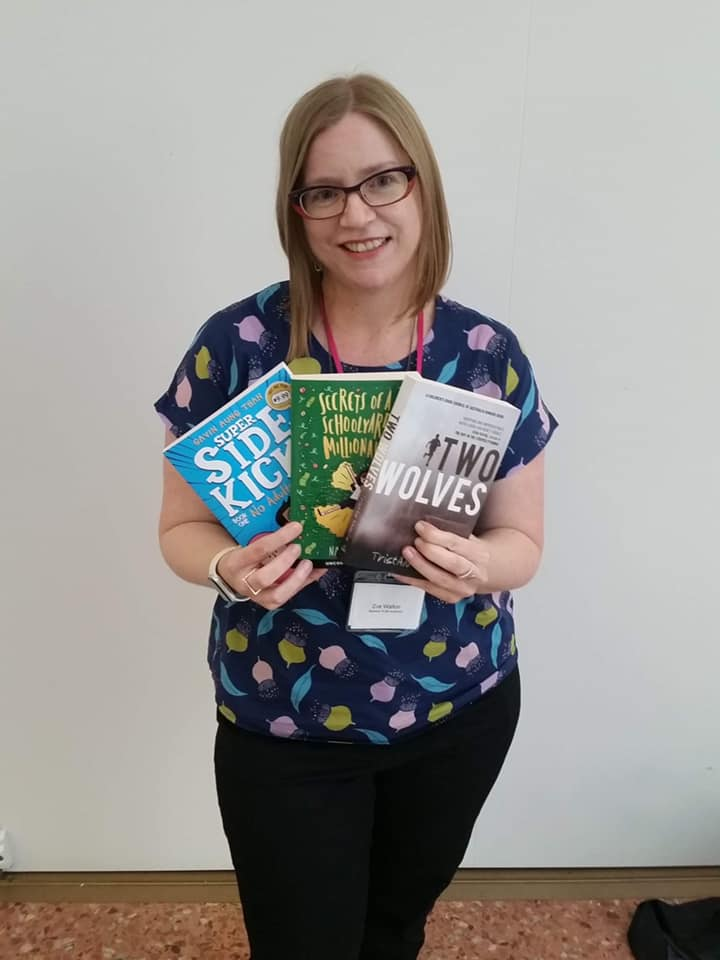 Zoe Walton with some of her favourite examples of books with great dialogue