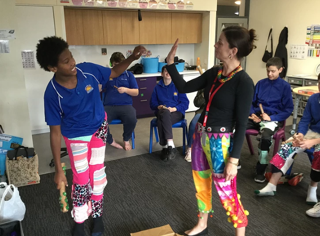 Author visits to SASVI (South Australian School for the Vision Impaired) and Suneden Specialist School complete with fancy pants aplenty.