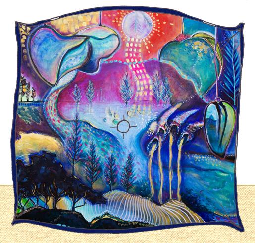Art cushion, using 'Giftenne' fabric (coming soon)