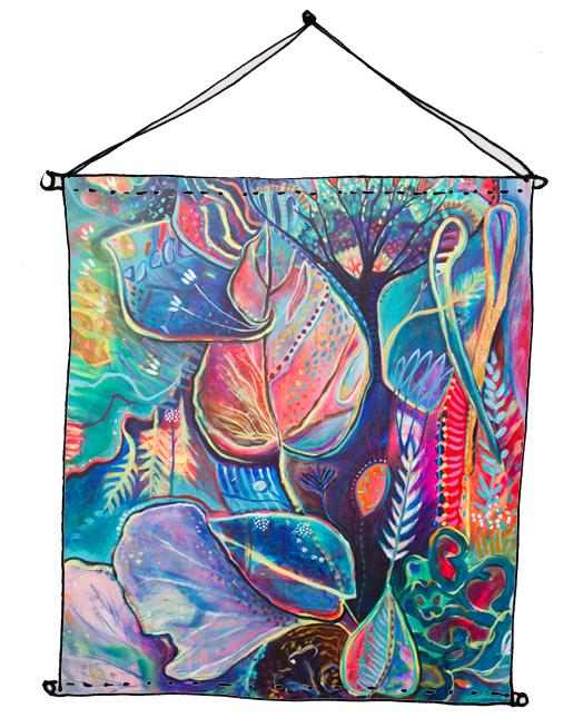 Fabric wall hanging using 'Serene' fabric (coming soon)