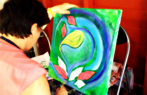 Di's beautiful lily emerging organically ...