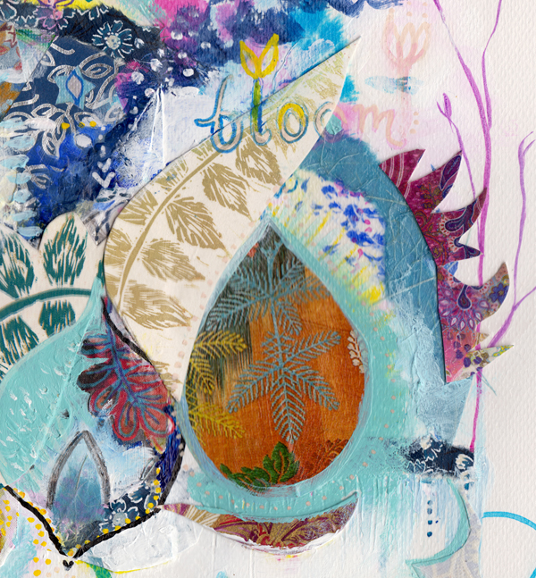 'Bloom'. Original collage on paper.  HERE