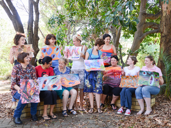 Feb 2014 Expressive Colour Workshop.  CLICK HERE  to view more pics!