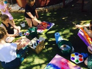 expressive painting with kids