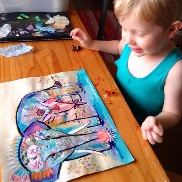 """Beautiful! It looks like a Mummy elephant"" says my little guy"
