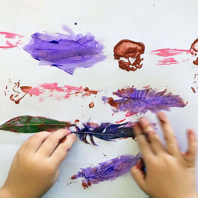Children's nature art