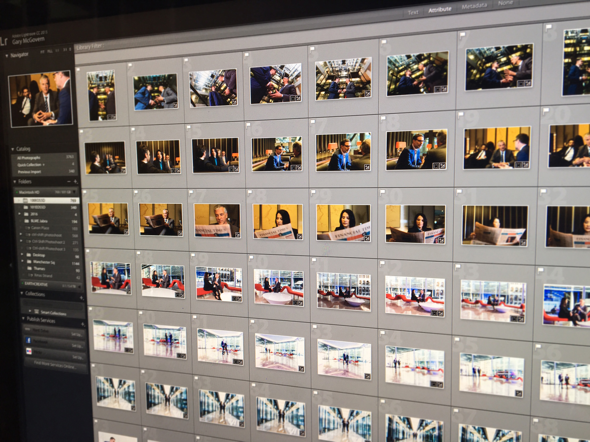 Editing and processing all the images from latest corporate photoshoot for Banking client based in the City of London.