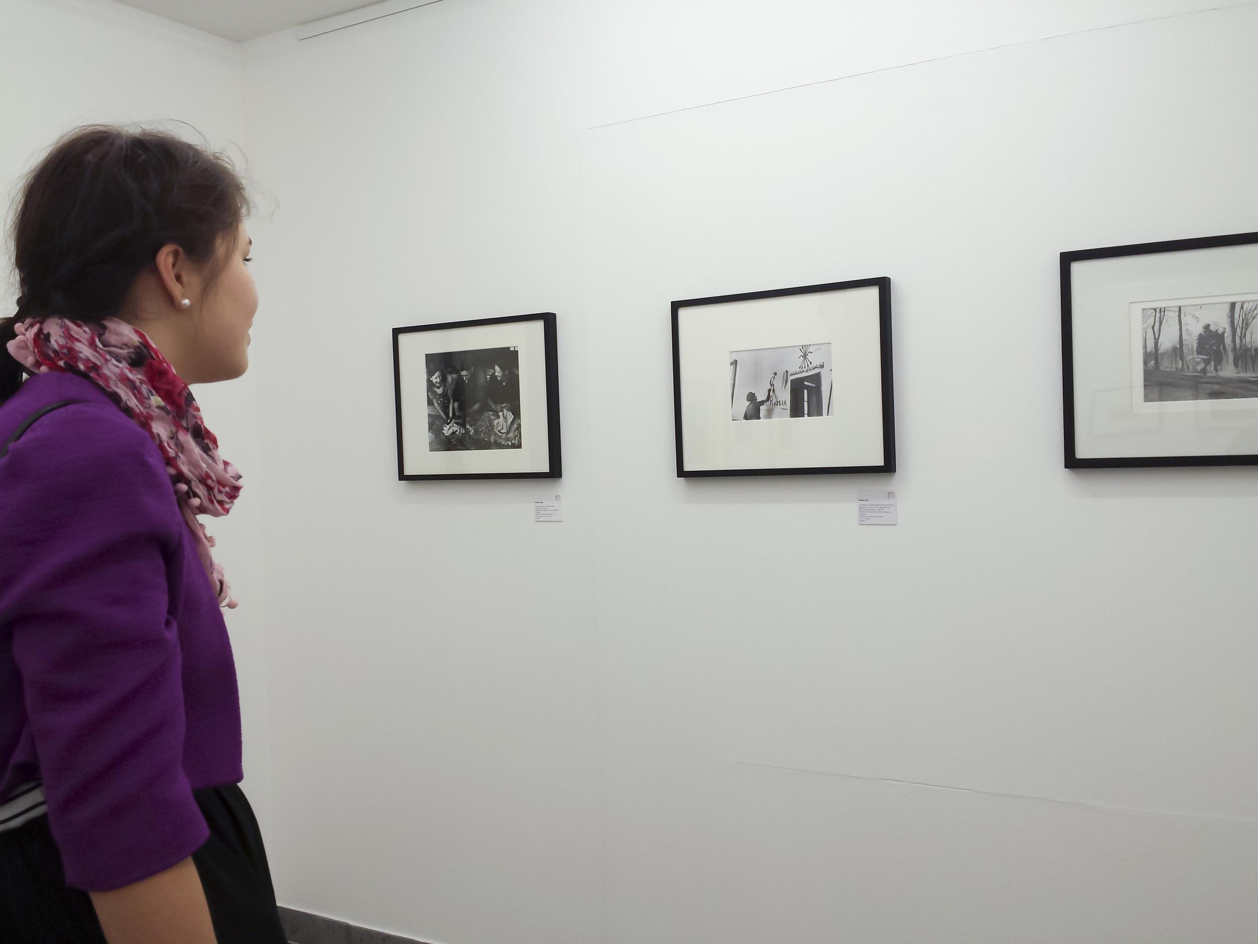 Robert Capa photographs on display in Lugano.